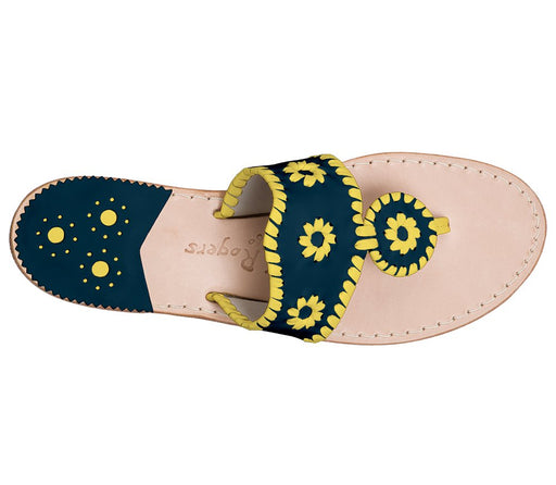 Custom Jacks Sandal Wide - Midnight / Yellow-Jack Rogers USA