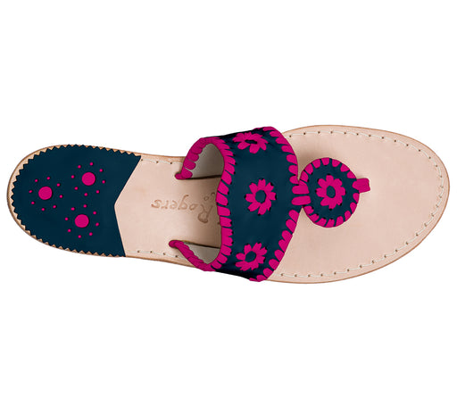 Custom Jacks Sandal Medium - Midnight / Bright Pink-Jack Rogers USA