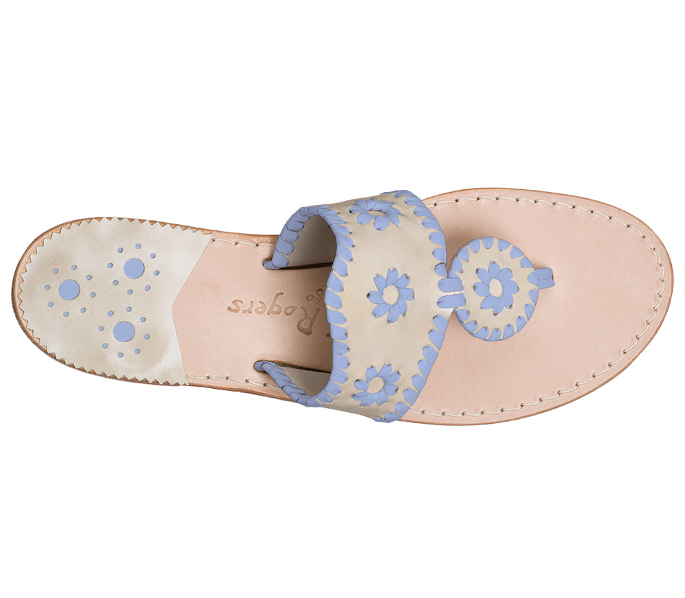 Custom Jacks Sandal Medium - Platinum / Light Blue