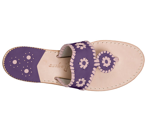 Custom Jacks Sandal Medium - Purple / Blush-Jack Rogers USA