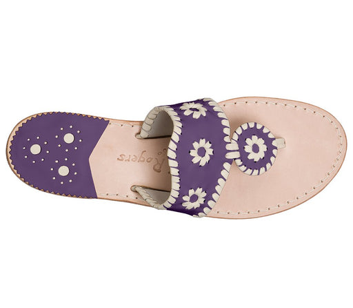 Custom Jacks Sandal Wide - Purple / Bone-Jack Rogers USA