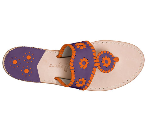 Custom Jacks Sandal Wide - Purple / Dark Orange