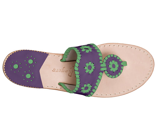 Custom Jacks Sandal Medium - Purple / Green