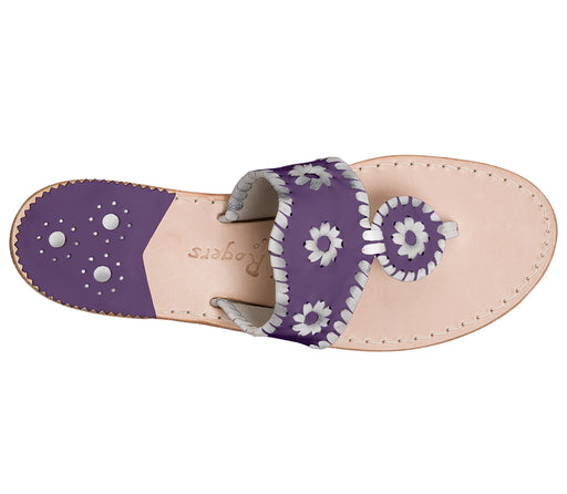 Custom Jacks Sandal Medium - Purple / Silver-Jack Rogers USA
