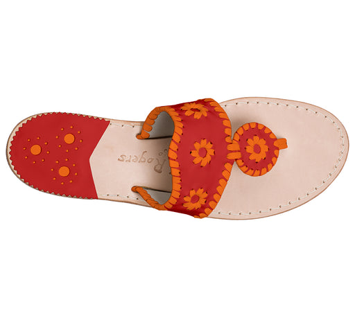 Custom Jacks Sandal Medium - Red / Dark Orange-Jack Rogers USA