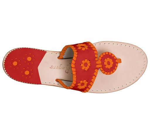 Custom Jacks Sandal Wide - Red / Dark Orange-Jack Rogers USA