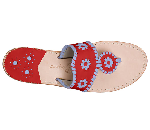 Custom Jacks Sandal Medium - Red / Light Blue