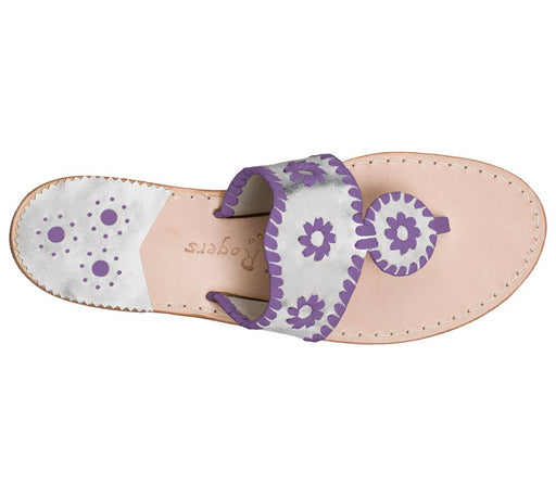 Custom Jacks Sandal Wide - Silver / Purple