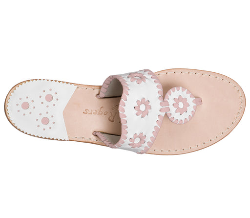 Custom Jacks Sandal Medium - White / Blush