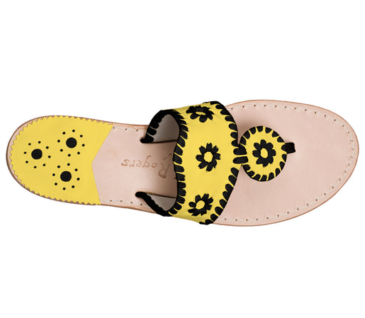 Custom Jacks Sandal Medium - Yellow / Black-Jack Rogers USA