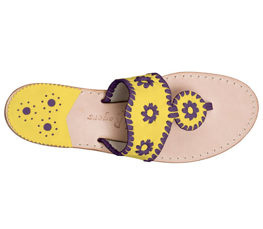 Custom Jacks Sandal Wide - Yellow / Purple