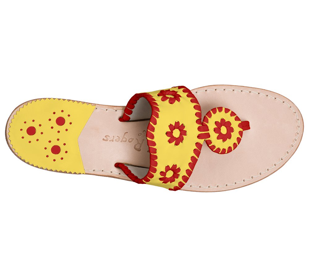 Custom Jacks Sandal Wide - Yellow / Red