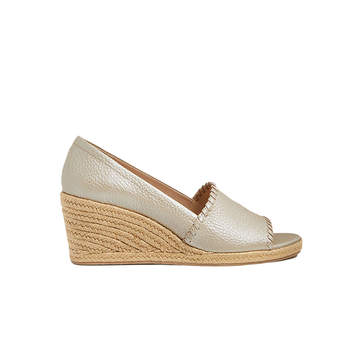 Palmer Pebbled Leather Espadrille Wedge