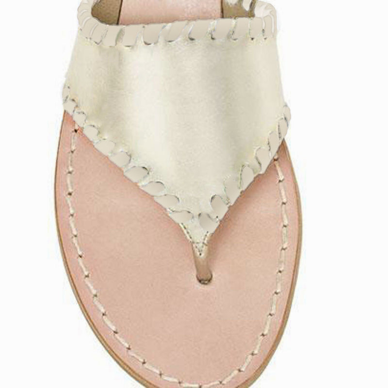JACKS CIRCLE MONOGRAM SANDAL - PLT/PLT/MDT