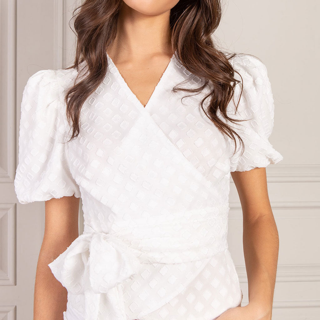 SENLIS Leila Short Sleeve Wrap Top