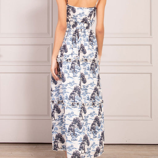 SENLIS Halette Tiered Ruffled Sleeveless Maxi Dress