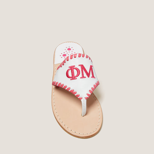 Phi Mu Embroidered Sandal-SANDALS-Jack Rogers USA