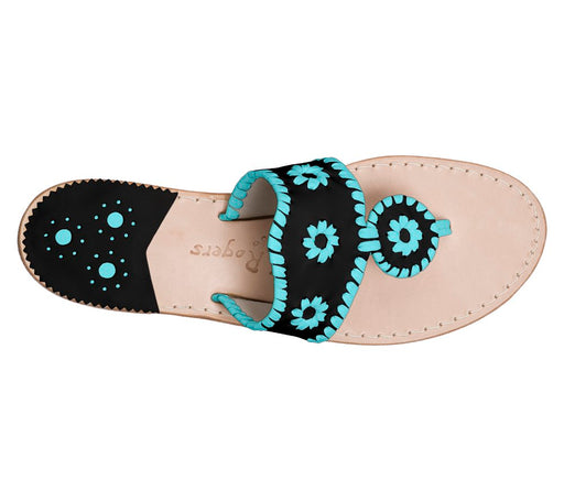 Custom Jacks Sandal Wide - Black / Caribbean Blue