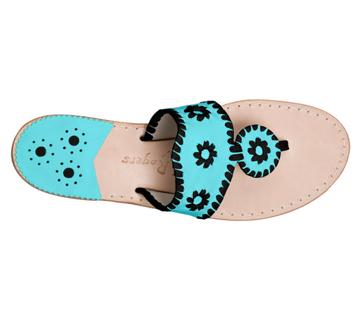 Custom Jacks Sandal Medium - Caribbean Blue / Black-Jack Rogers USA