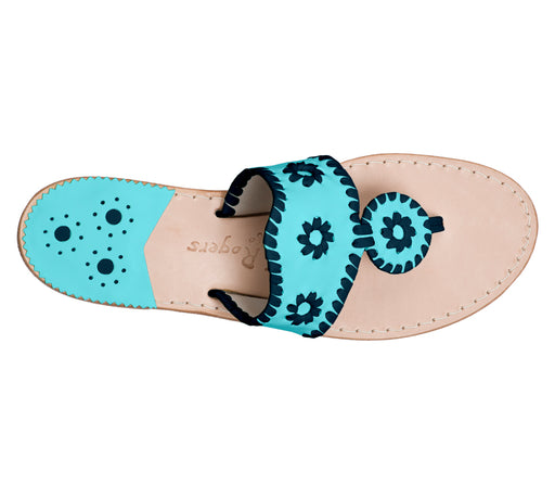 Custom Jacks Sandal Medium - Caribbean Blue / Midnight-Jack Rogers USA