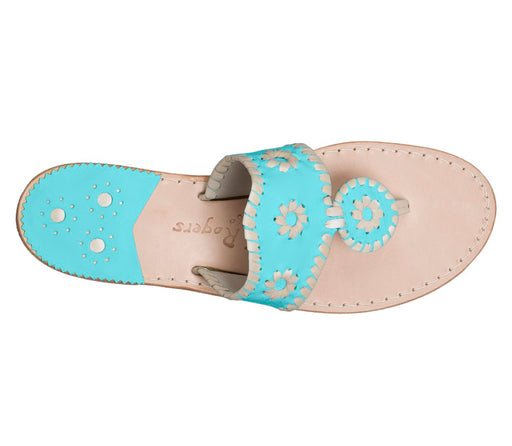 Custom Jacks Sandal Wide - Caribbean Blue / Platinum-Jack Rogers USA