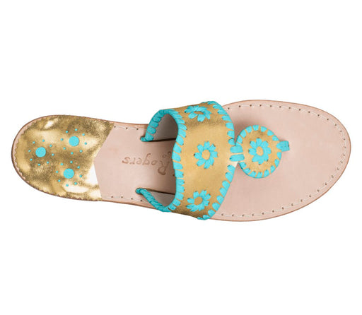 Custom Jacks Sandal Wide - Gold / Caribbean Blue