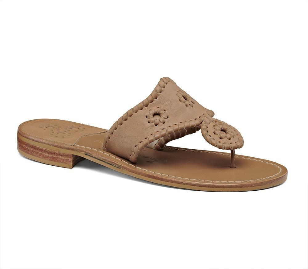 Wide Natural Jack Sandal