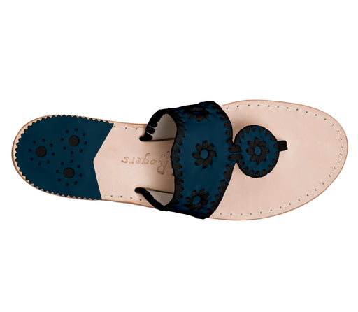 Custom Jacks Sandal Medium - Midnight / Black-Jack Rogers USA