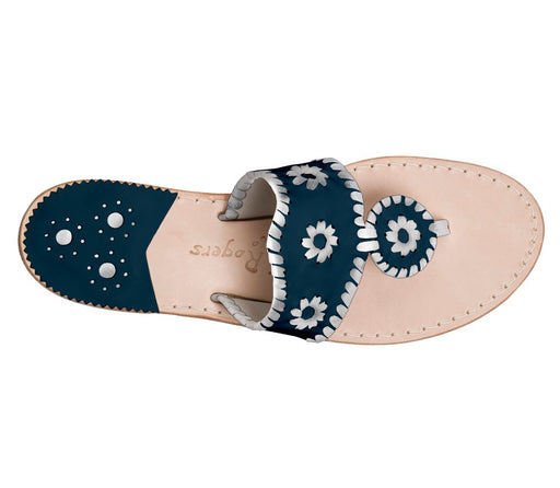 Custom Jacks Sandal Wide - Midnight / Silver-Jack Rogers USA