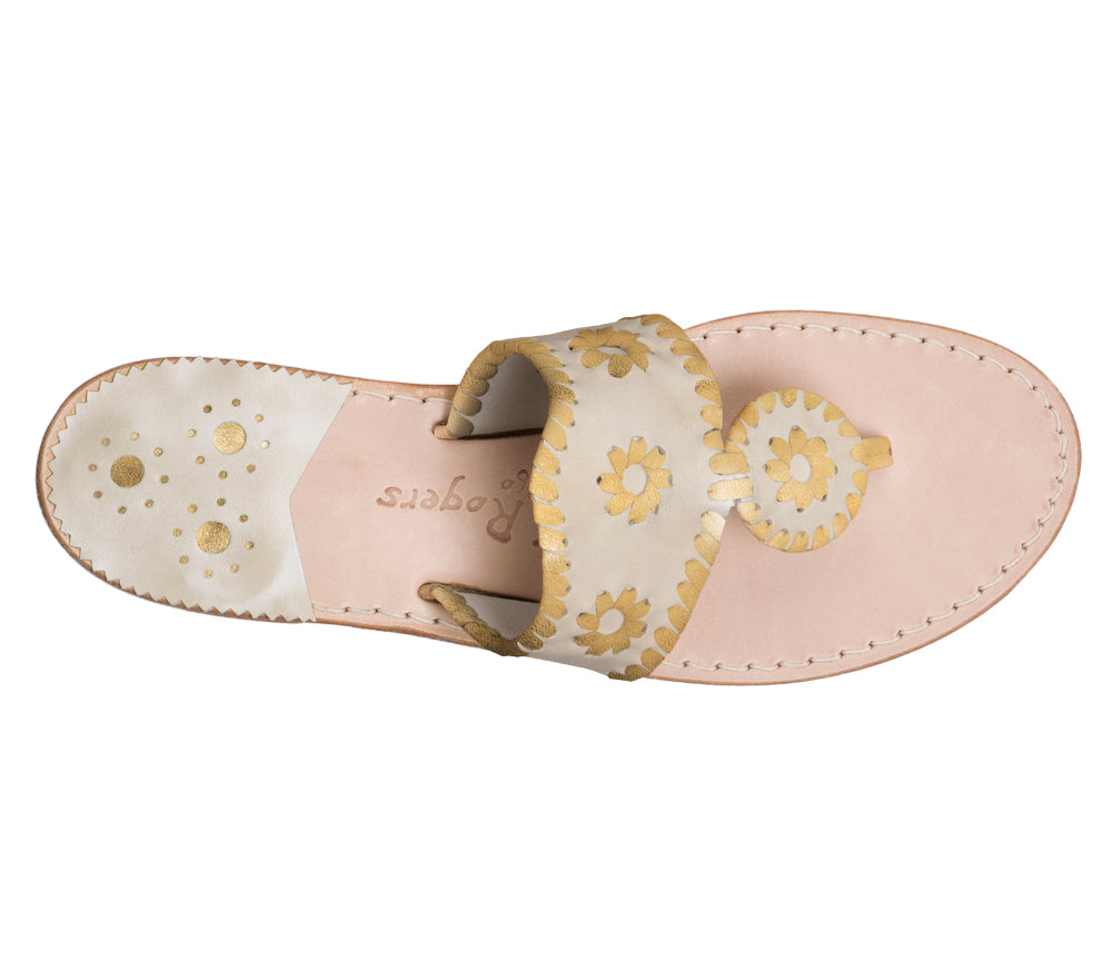 Custom Jacks Sandal Medium - Platinum / Gold