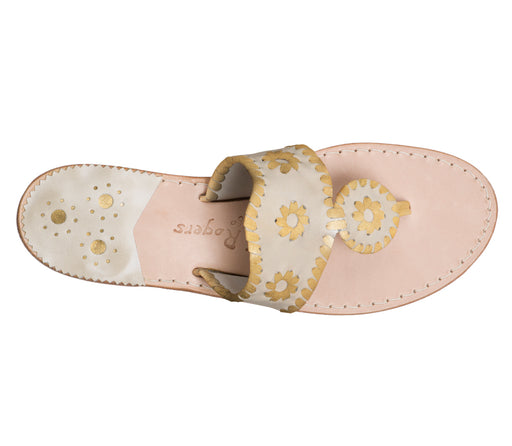 Custom Jacks Sandal Medium - Platinum / Gold-Jack Rogers USA