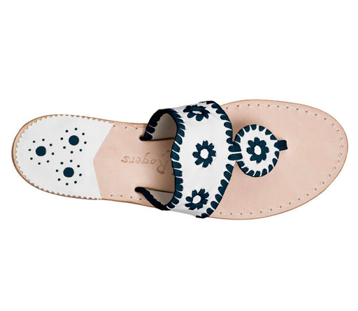 Custom Jacks Sandal Wide - White / Midnight-Jack Rogers USA