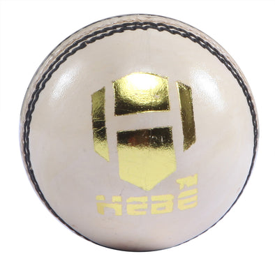 HEBE CRICKET LEATHER BALL Z TEST, WHITE