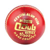 HEBE CRICKET LEATHER BALL Q CLUB, RED