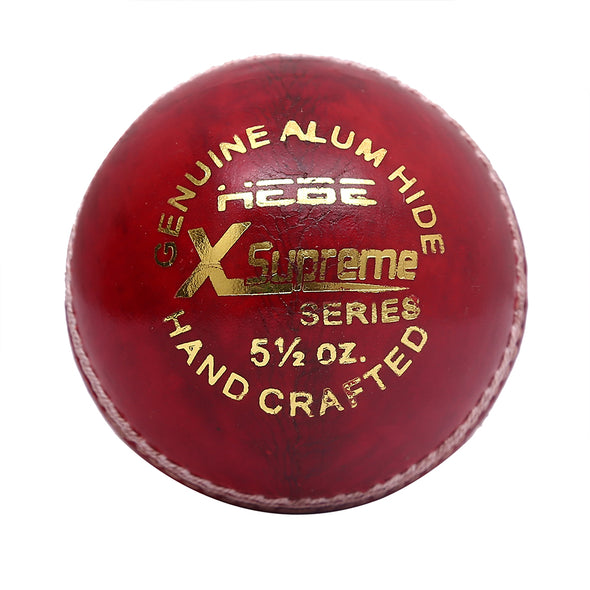HEBE CRICKET LEATHER BALL X SUPREME, RED