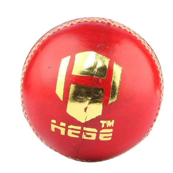 HEBE CRICKET LEATHER BALL X TEST, RED