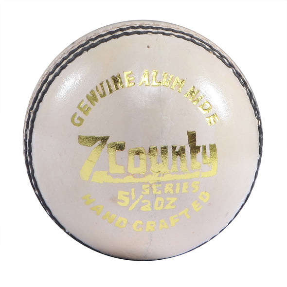 HEBE CRICKET LEATHER BALL Z COUNTY, WHITE