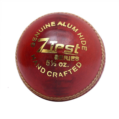 HEBE CRICKET LEATHER BALL Z TEST, RED