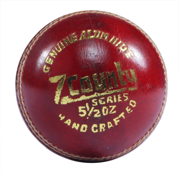 HEBE CRICKET LEATHER BALL Z COUNTY, RED