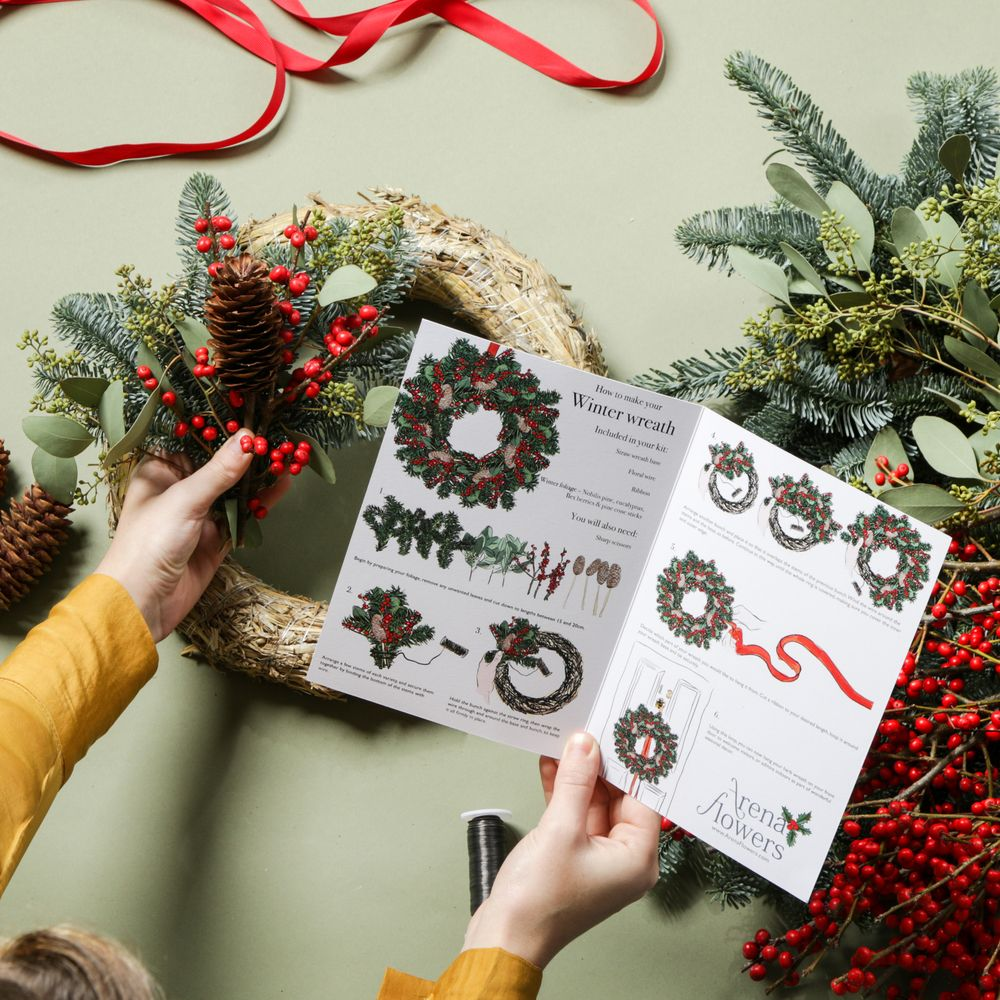 Make Your Own Berry Christmas Wreath