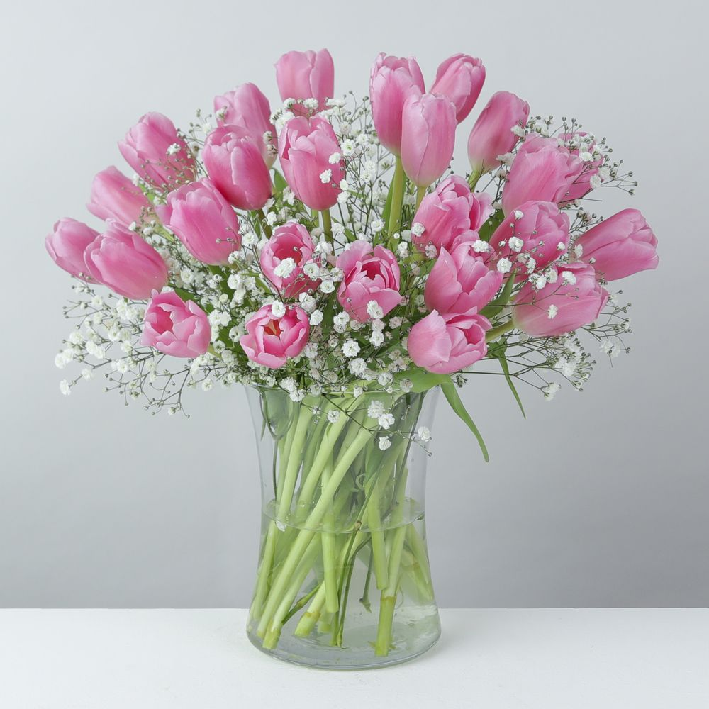 Mother's Day tulips with Vase