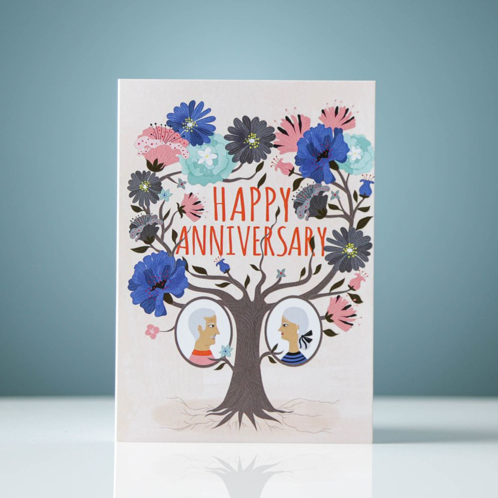 Happy Anniversary (Tree Design)