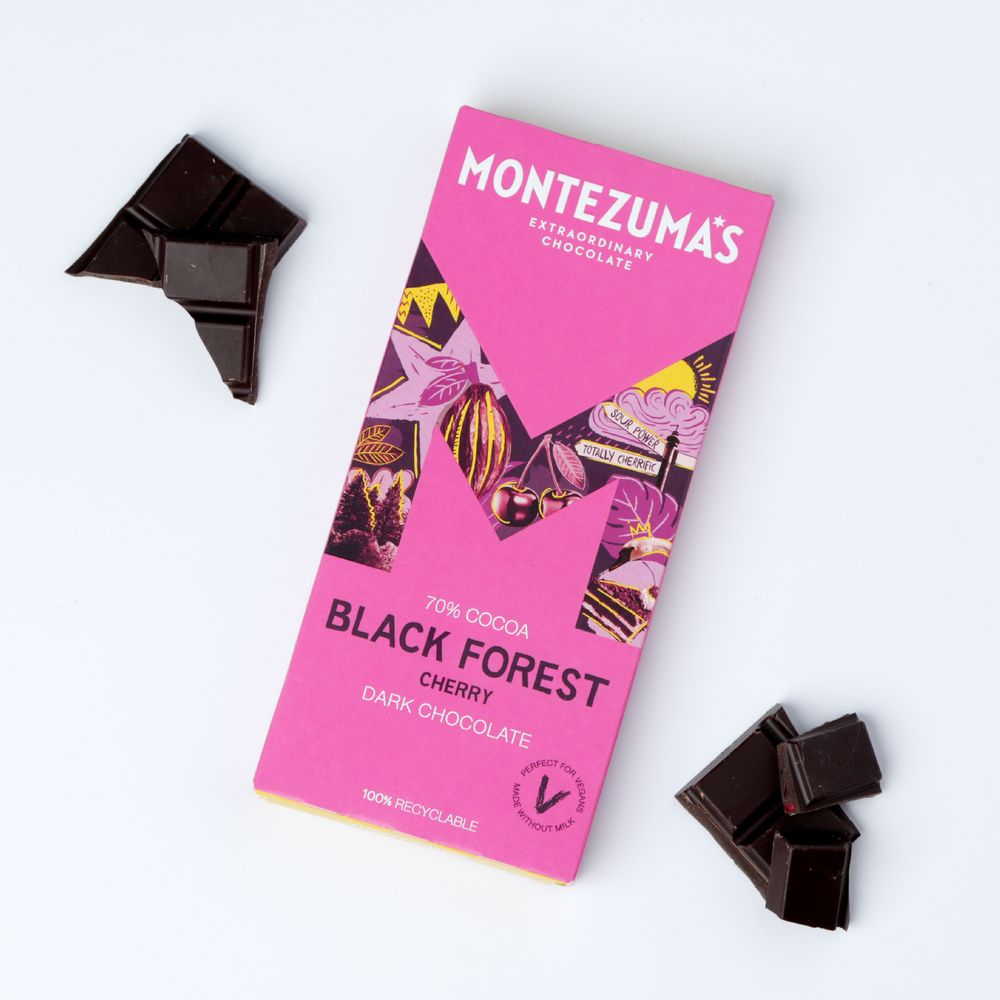 Montezuma's vegan cherry chocolate bar