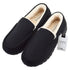 LeoMone Mens Slippers Moccasins for Men Cozy Pile Lined with Microsuede Upper Indoor Outdoor Slip On House Shoes