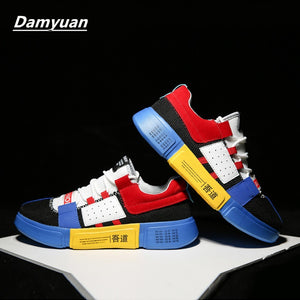 Damyuan Men's Casual Running Sport Shoes Man Breathable Flats Shoes Men's Outdoor Sports Shoes
