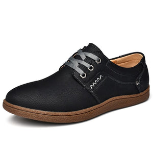 Brand Split Leather shoes Classic fashion mens casual shoes Spring Breathable men Loafers Autumn men's flats shoes
