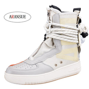 ARANSUE New arrival 2018 unisex ankle boots mesh bootie lover shoes good quality short boot for male and ladies Botas