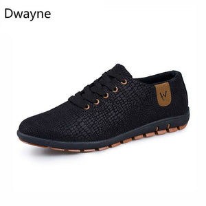 Dwayne Spring/Summer Men Shoes Breathable Mens Shoes Casual Fashio Low Lace-up Canvas Shoes Flats Zapatillas Hombre Plus Size 47