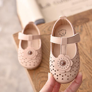 Spring Summer Kids Leather Sweet Flowers Princess Baby Comfortable Children Girls Flat