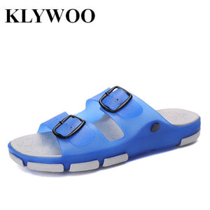 Hot Summer Men Shoes Slides Fashion Flip Flops Men Sandals Causal Breathable Male Flat Summer Beach Slippers Slides Size 40-45